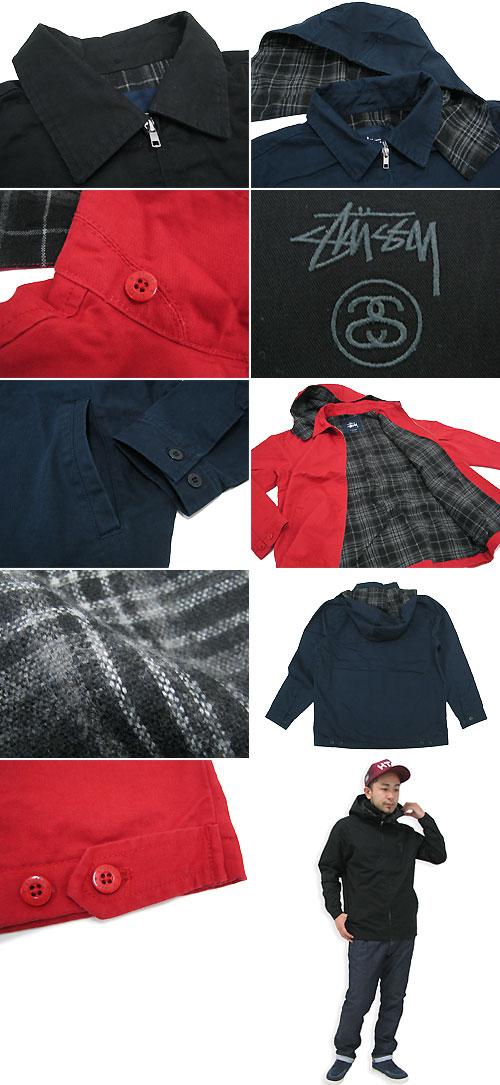Stussy STUSSY 兵连帽 2 件夹克 (stussy 夹克 JKT 件衬衫外套上衣跳线 / 束腰女 Stussy 男装,男人的 0150128 Steacy) 提起冰原的冰