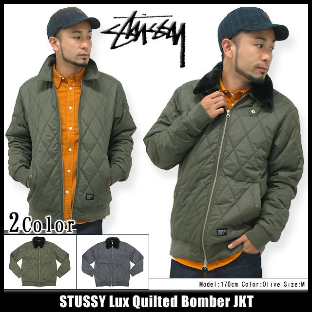 9919b83d0 Stussy STUSSY Lux Quilted Bomber jacket (stussy JACKET JKT JAKET outerwear  jumpers blouson Stussy mens, men's 115212 Stussy stussy Stussy Steacy) ice  ...
