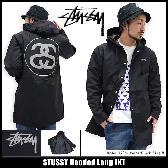 Stussy STUSSY Hooded Long jacket (stussy JACKET JKT JAKET outer coach jumper / blouson Stussy mens, men's 115236 Stussy stussy Stussy Steacy) ice filed icefield