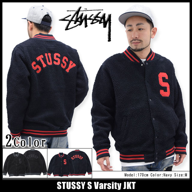 Stussy STUSSY 男式外套 S 大学代表队 (stussy jkt 件衬衫夹克外套衫和夹克体育场夹克 stajan 将队列和-为男人 118148 Stussy Steacy) 冰提起冰原 20P09Jan16