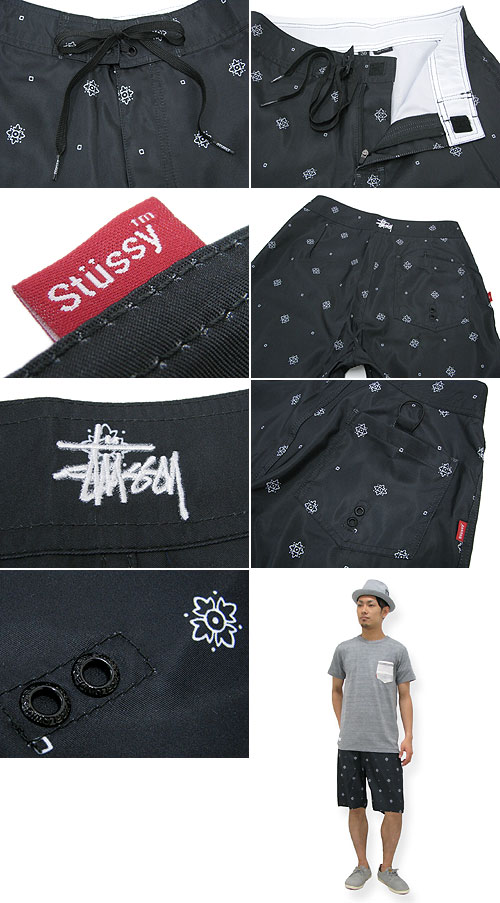 566308284d ... Stussy STUSSY Bandana trunk (stussy trunk shorts shorts swimwear swim  wear swimming trunks shorts bottoms