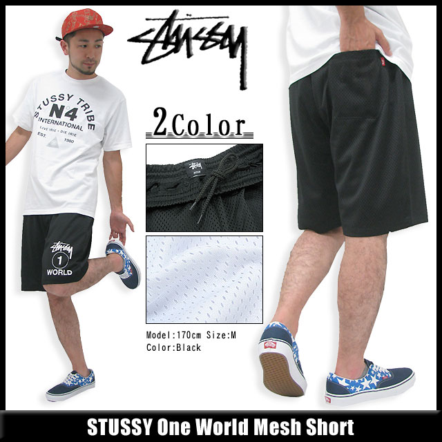 Stussy STUSSY One World Mesh Shorts (stussy short pant shorts shorts shorts bottoms mens, men's 112137 Stussy stussy Stussy Steacy) ice filed icefield