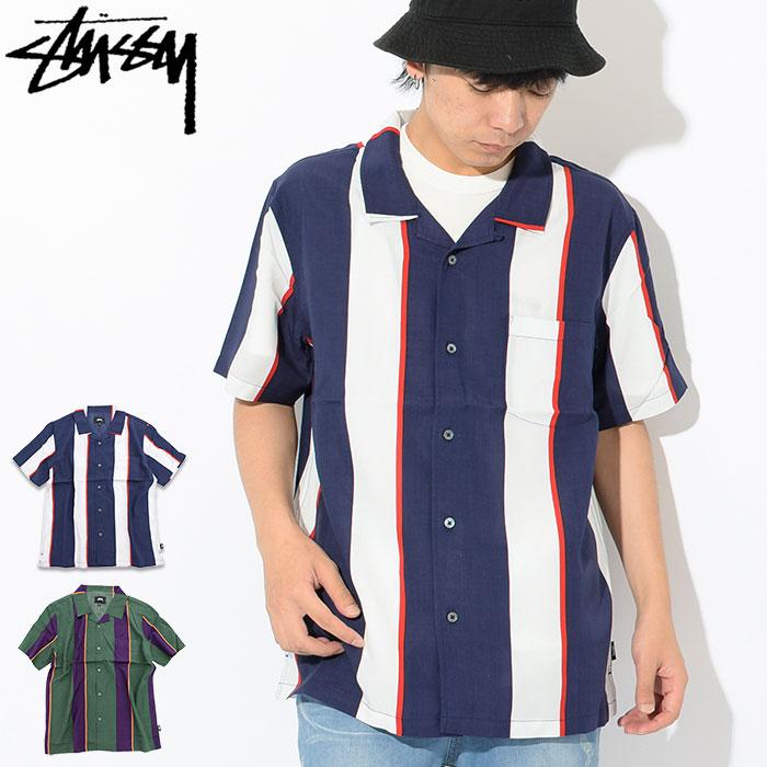 ステューシー STUSSY シャツ 半袖 メンズ Big Stripe(stussy shirt オープンカラーシャツ カジュアルシャツ トップス メンズ 男性用 111973 USAモデル 正規 品 ストゥーシー スチューシー)