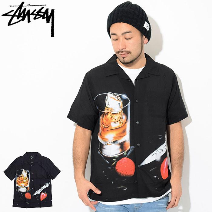 ステューシー STUSSY シャツ 半袖 メンズ Cocktail ( stussy shirt オープンカラーシャツ カジュアルシャツ トップス メンズ 男性用 1110041 USAモデル 正規 品 ストゥーシー スチューシー )
