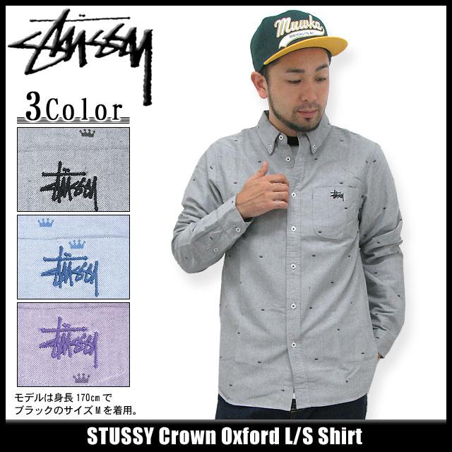 Stussy STUSSY Crown Oxford shirt long sleeve (stussy shirt shirts men f741f163d4c9