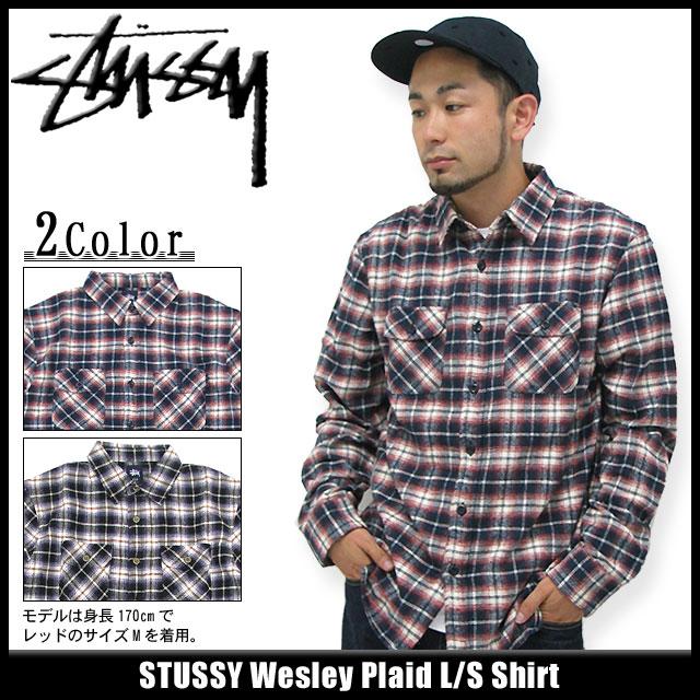 Stussy STUSSY Wesley Plaid Shirt long sleeve (stussy shirt shirts men bdb5f526af81