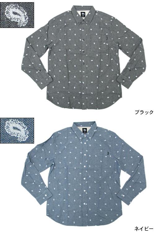 Stussy STUSSY 佩斯利衬衫长袖 (stussy 衬衫衬衫男子,男子 111746 Stussy stussy Stussy Steacy) 提起冰原的冰