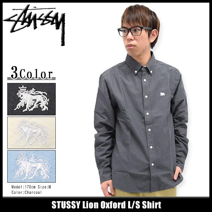 ステューシー STUSSY シャツ 長袖 メンズ Lion Oxford(stussy shirt カジュアルシャツ トップス メンズ・男性用 111895 USAモデル 正規 品 ストゥーシー スチューシー)