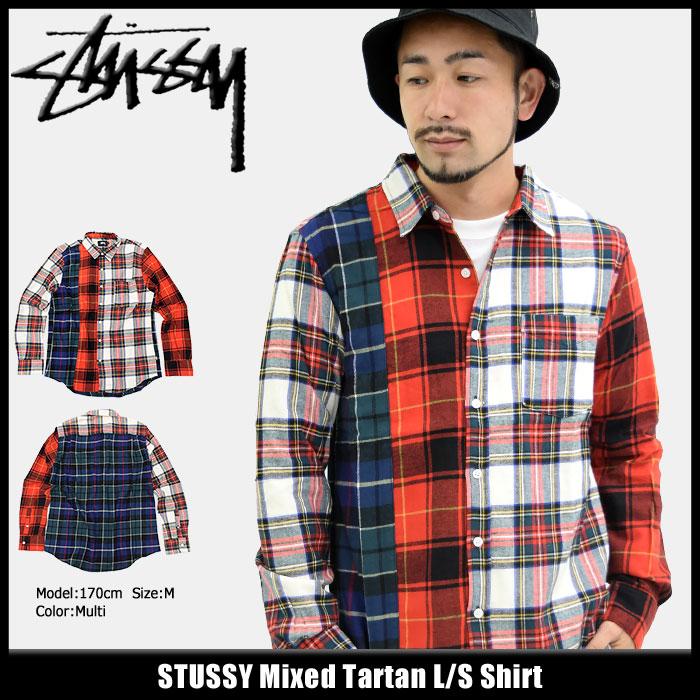 ステューシー STUSSY シャツ 長袖 メンズ Mixed Tartan(stussy shirt タータンチェック カジュアルシャツ トップス メンズ・男性用 111933 USAモデル 正規 品 ストゥーシー スチューシー)