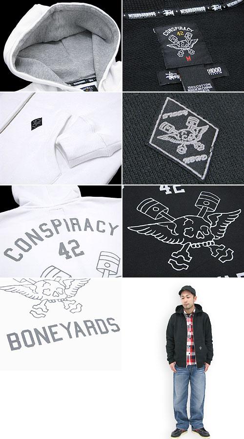 STUSSY (Stussy) × 邻里阴谋充分邮编帽衫协作冰提起冰原