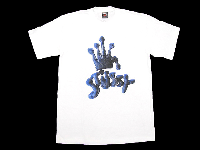 STUSSY (Stussy) × stussy tee tee shirts T-SHIRTS top men for men Levis Crown S/S Tee collaboration ice filed icefield