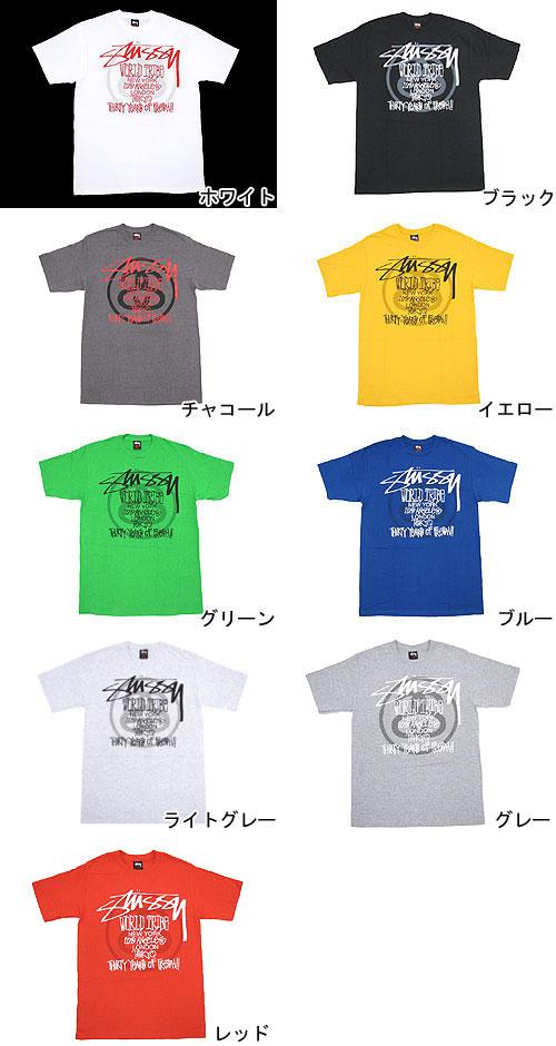 STUSSY(suteyushi)Thirty Years of Fresh!! 供S/S Tee(stussy tee T恤T-SHIRTS最高层人男性使用的)ice filed icefield