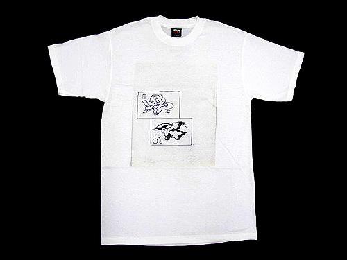 suteyushi STUSSY×DONDI Dondi B&C T恤短袖盾日协作(供stussy tee T恤T-SHIRTS最高层W姓名人、男性使用的1902027朱熹)ice filed icefield