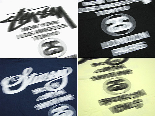 suteyushi STUSSY World Tour Blur T恤短袖(供stussy tee T恤T-SHIRTS最高层人、男性使用的1902541朱熹)ice filed icefield