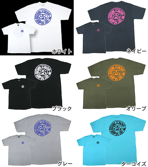 suteyushi STUSSY Buana Circle T恤短袖(供stussy tee T恤T-SHIRTS最高层人、男性使用的1902682朱熹)ice filed icefield