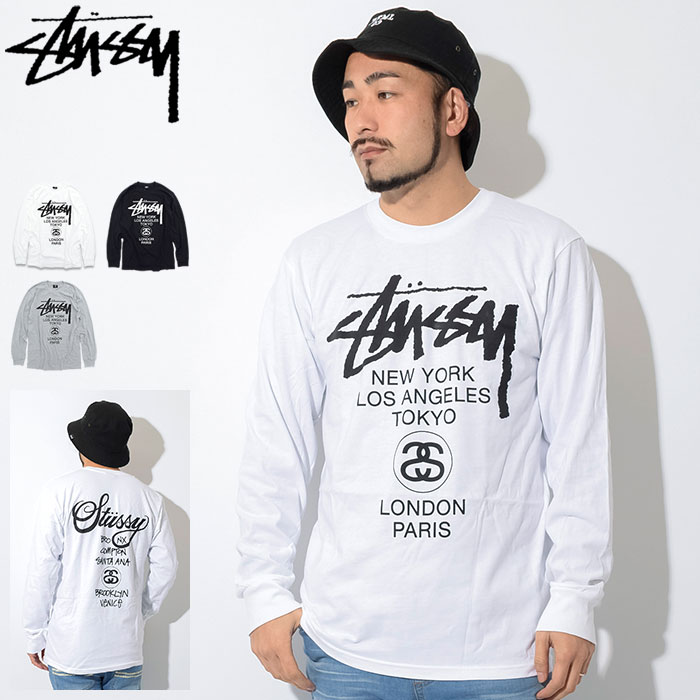 c7a6e951989 Stussy STUSSY World Tour T shirt long sleeve (stussy tee tee shirts  T-SHIRTS tops long ロンティー Ron t men s men for 1993118 Stussy stussy Stussy  Steacy) ...