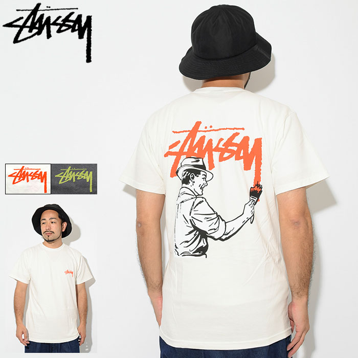 2860187b 1904398 ステューシー STUSSY T-shirt short sleeves men Painter Pigment Dyed(stussy  t shirt ...