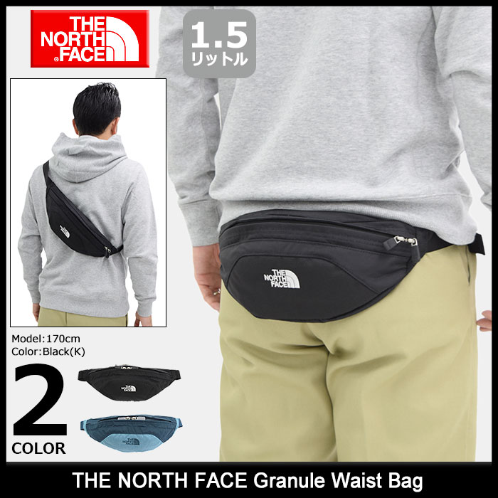 北方面临北脸颗粒腰袋男子 & 妇女 (北脸颗粒腰包腰袋西邮袋回袋臀部髋关节袋中性中性 NM71504 北脸和 NORTHFACE)
