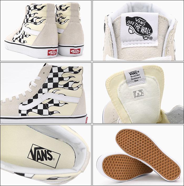 バンズ VANS スニーカー メンズ 男性用 UA スケートハイ Classic White True White チェッカー フレイム vans VN 0A38GERX7 UA Sk8 Hi Checker Flame ハイカット ホワイト 白 SNEAKER MENS・靴 シューズ SHOES ヴァンズCtshQdr