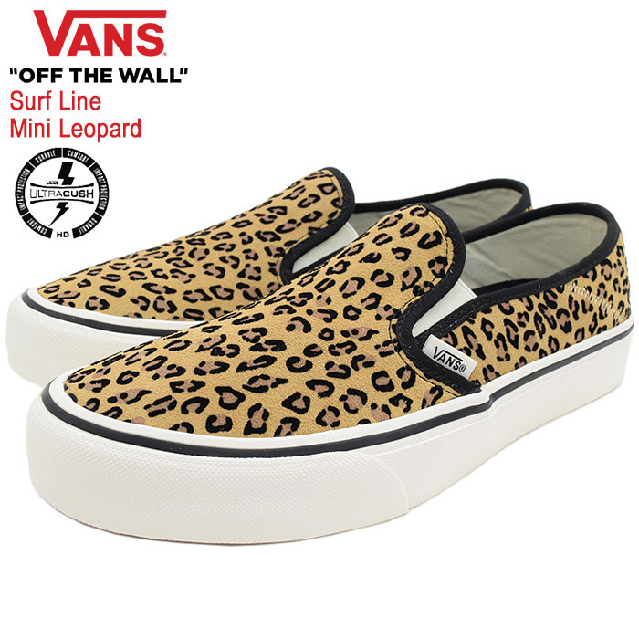 Slip ons SF ミニレオパード SuedeMarshmallow surf line (vans VN0A3MVDTTS Slip On SF Mini Leopard Surf Line slip on Slip On SlipOn low frequency cut leopard