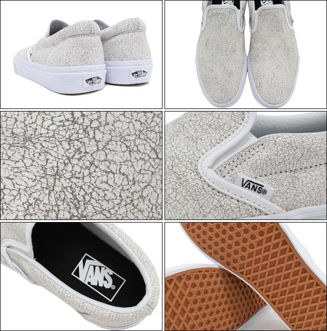 Vans VANS sneakers mens men s classic slip-on true white cracked leather  (shoe shoes SHOES vans 176461346