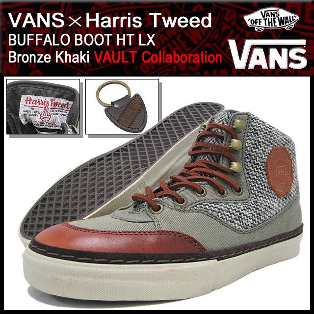 バンズ VANS×Harris Tweed スニーカー バッファロー ブーツ HT LX Bronze Khaki VAULT コラボ メンズ 男性(vans VN-0QE466R BOOT HT LX ハリス・ツイード ハイカット ボルト 限定 Sneaker sneaker SNEAKER MENS・靴 シューズ SHOES スニーカ ヴァンズ)