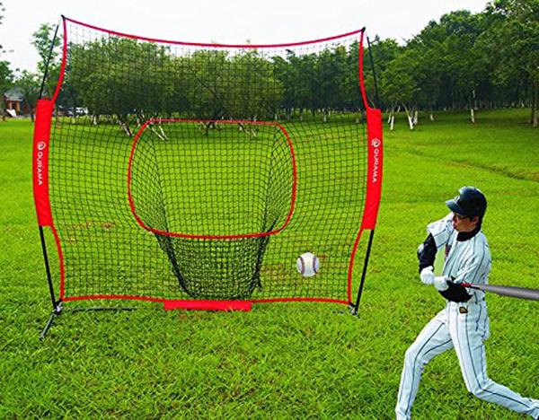 野球ネット 防球ネット 練習器具 Cyfie打撃 投球 ボール受けネット 集球袋付き  トレーニング  組立簡単 軟球 硬球兼用 スチール製 収納袋付