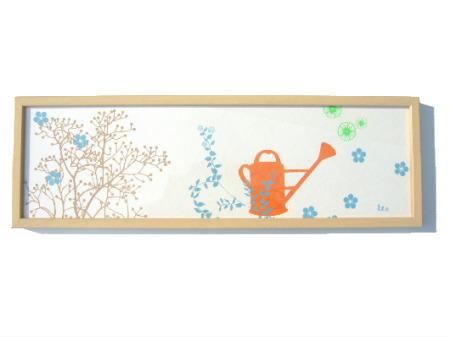 atelier lzc アトリエlzc ハンドメイドシルクスクリーンS(額付き) 【smtb-KD】