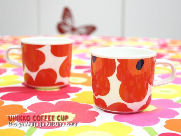 正規販売店 オンラインショップ 北欧 食器 誕生日 お祝い コップ 陶器 MUG marimekko マリメッコ UNIKKO コーヒーカップ 容量200ml