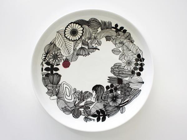 最安値挑戦 marimekko マリメッコ プレート SIIRTOLAPUUTARHA 大皿 メーカー公式