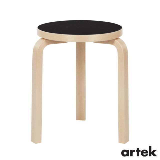 送料無料 ARTEK 高級 アルテック スツール60 3本脚 Stool60 ブラックリノリウム 椅子 新品 送料無料