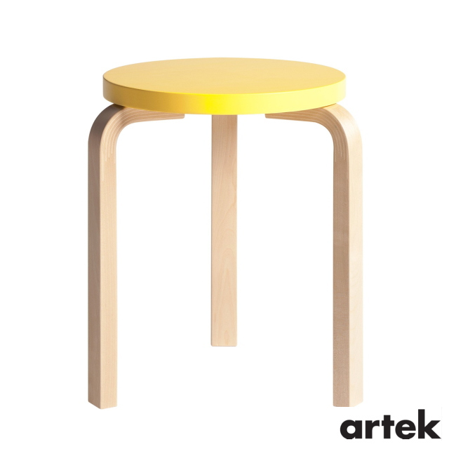 [ ARTEK(アルテック)] スツール60 (椅子) 3本脚 パイミオカラー イエロー Stool60