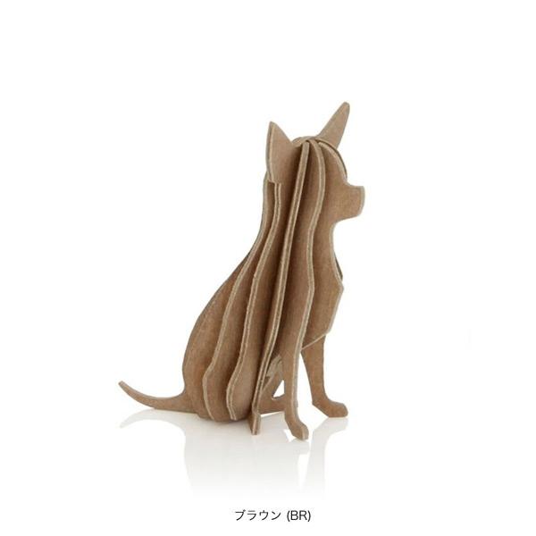 メール便発送可能 lovi ロヴィ 白樺でつくるオブジェ 6cm ついに再販開始 3Dパズル チワワ ブラウン スーパーセール