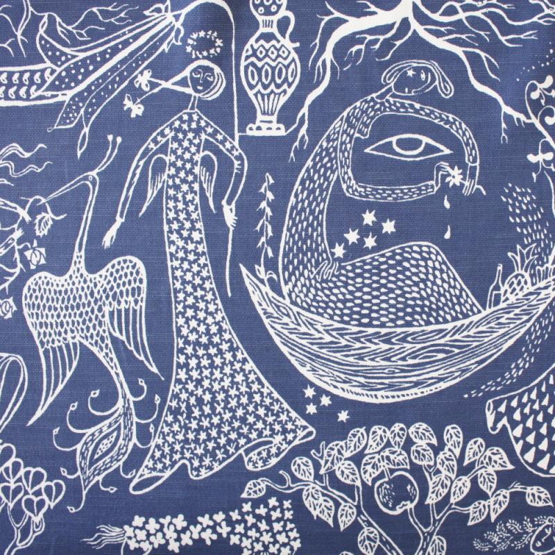 1mまでメール便発送可能 10cm単位販売 スウェーデン ●日本正規品● 北欧 布 LJUNGBERGS ユンバリ Poeme ポエダム 生地 ファブリック ファッション通販 d'amour ブルー