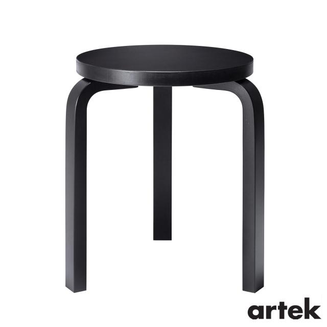送料無料 ARTEK アルテック スツール60 3本脚 オールブラック 本店 椅子 国内即発送 Stool60
