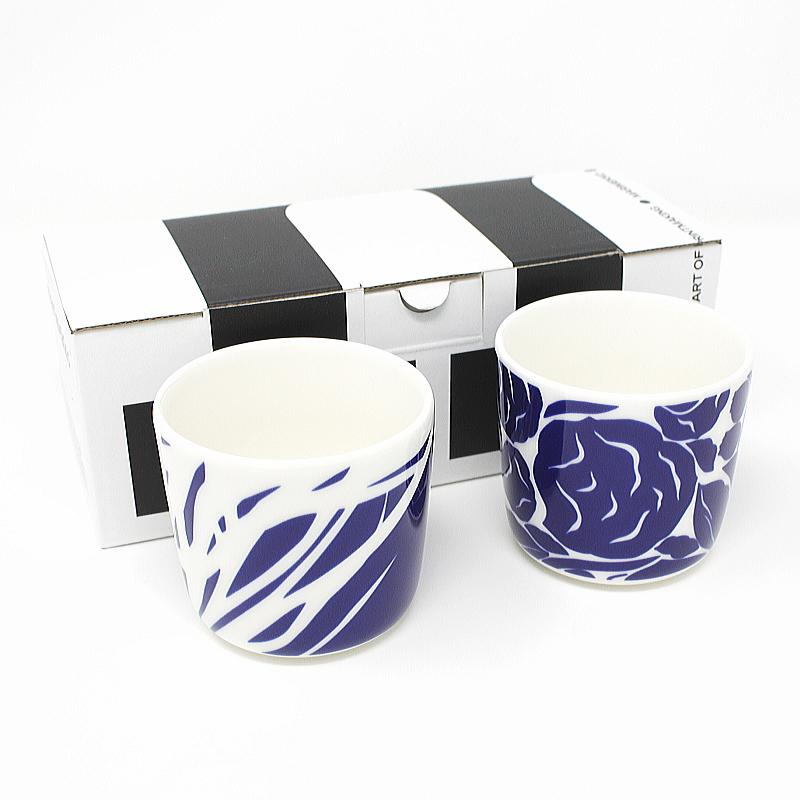 正規販売店 北欧 食器 コップ 陶器 安い 容量200ml 39 RUUDUT 信用 marimekko マリメッコ ラテマグセット No.150