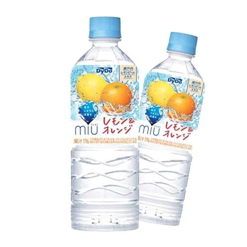 ダイドーmiu レモン オレンジ550ml×24本 有名な 売れ筋ランキング