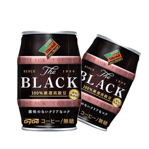 訳あり ダイドーブレンドザBLACK185g樽缶×24本 輸入