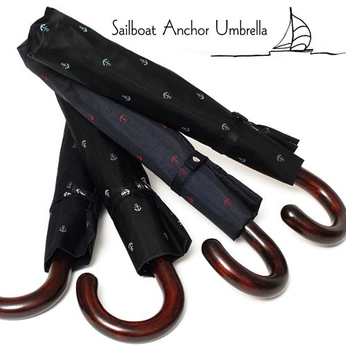 【送料無料】2段折りたたみ傘RAMUDA55×8Sailboat Anchor umbrella 軽量トップレスUV遮蔽率90%以上【傘屋伝七/1506】名入れ 可