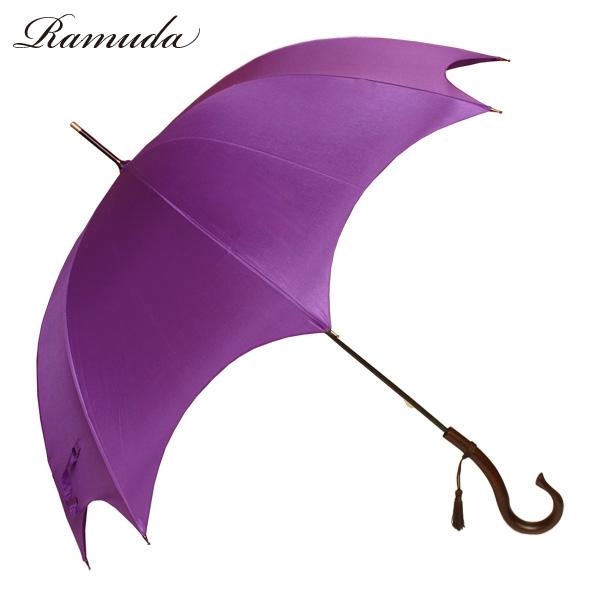 細くて強く軽い富士絹婦人洋傘 形状美しいハイレグカットで雨の日も♪晴れの日も 60×8ハイレグカット富士絹 [UV]紫外線防止加工 婦人洋傘【送料無料】【傘屋伝七/109t04】