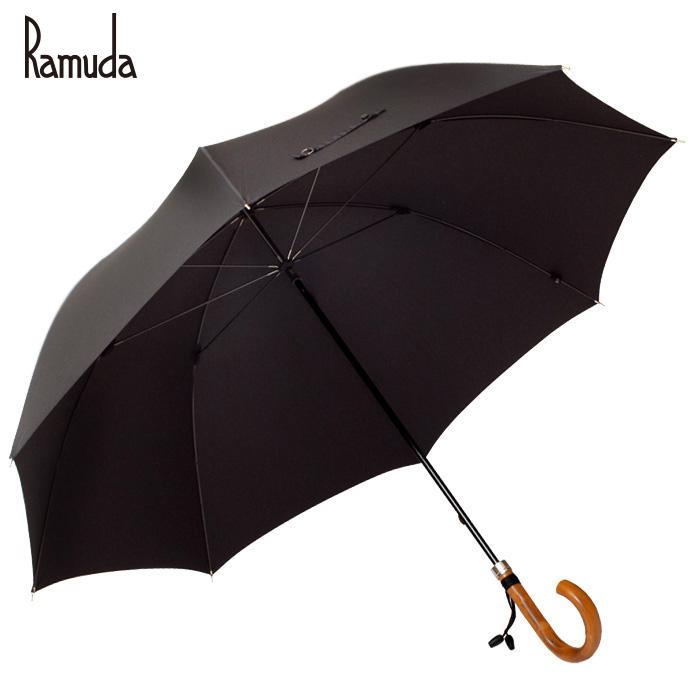 【送料無料】長傘 大きい傘 紳士傘 日本製 Ramuda【傘屋伝七/211102】【ギフト プレゼント】傘 雨具 レイングッズ かさ カサ 携帯 メンズ レディース 男女兼用 無地 父の日 ギフト