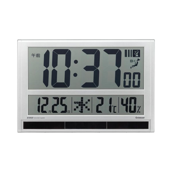 キングジム ハイブリッドデジタル電波時計 GDD-001【同梱・代引き不可】