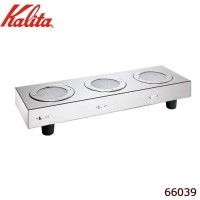 Kalita(カリタ) 3連光プレート 66039【同梱・代引き不可】