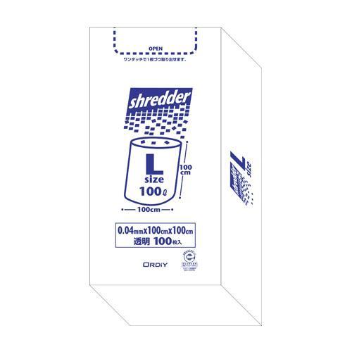 オルディ ポリバックシュレッダー用ボックスL 透明100P×3箱 510201【同梱・代引き不可】