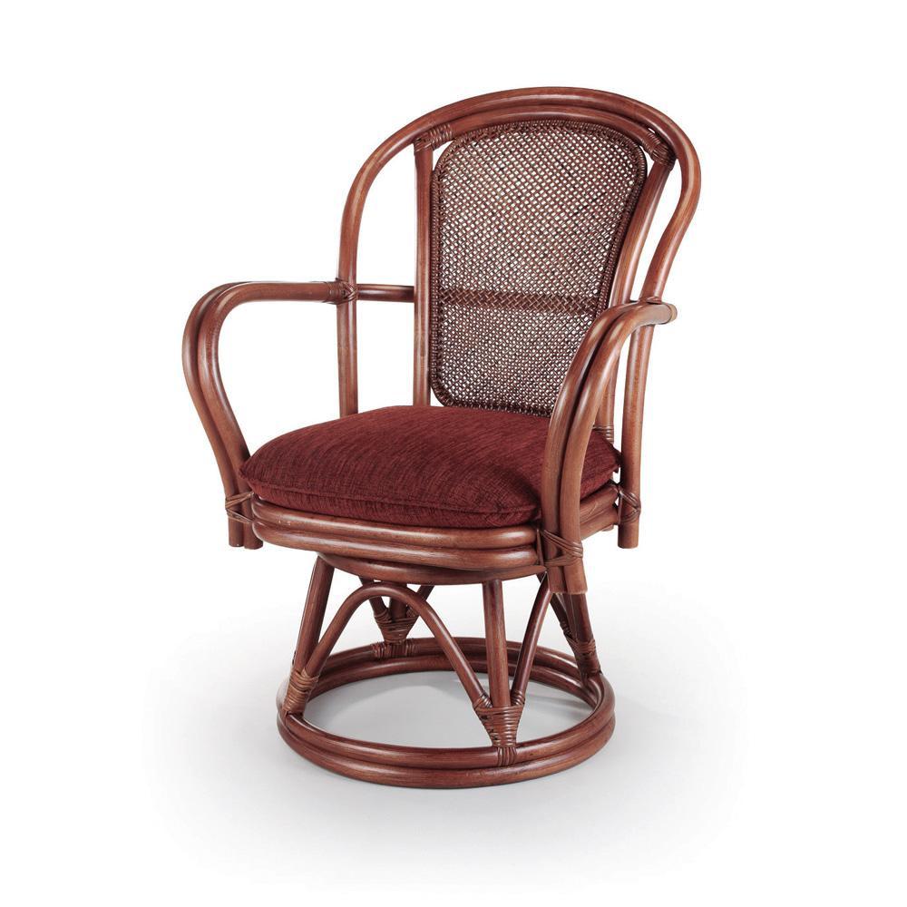 ★エントリーでP5倍 21日9:59迄★ 今枝ラタン 籐 シーベルチェア 回転椅子 アルファー A-230LD【同梱・代引き不可】