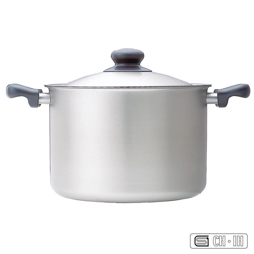 柳宗理 ステンレス・アルミ3層鋼 両手鍋 22cm 深型 つや消し【同梱・代引き不可】