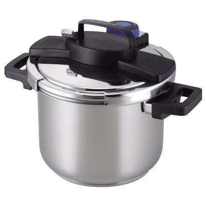 3層底ワンタッチレバー圧力鍋5.5L H-5389【同梱・代引き不可】