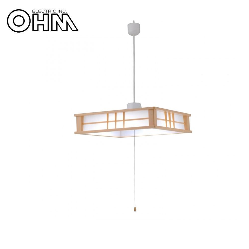 オーム電機 OHM LED和風ペンダントライト 調光 12畳用 60W LT-W60DAG【同梱・代引き不可】