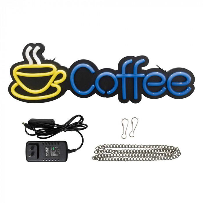 ★クーポンで500円off 9日01:59まで★ LEDライトサイン COFFEE 29942【同梱・代引き不可】