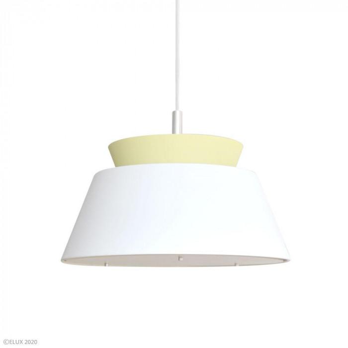 ELUX(エルックス) LARSEN(ラーセン) 3灯ペンダントライト ホワイト×イエロー LC10928-WHYE【同梱・代引き不可】